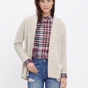 Madewell Seastar slub open cardigan sweater Small